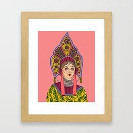 Kokoshnik Framed Art Print