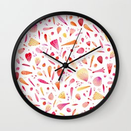 Petals Scattered About Wall Clock