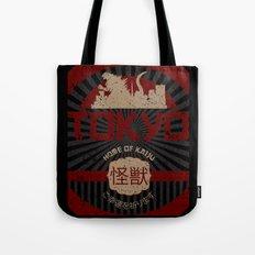 Tokyo home of kaiju poster Tote Bag