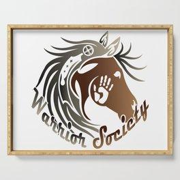 Warrior Society (Horse) Serving Tray