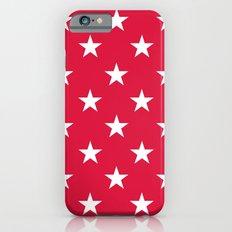 Stars (White/Crimson) iPhone 6s Slim Case
