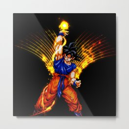 the goku power Metal Print