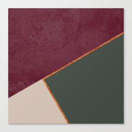 Burgundy Olive Green Gold and Nude Geometric Pattern #society6 #buyart Canvas Print