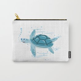 Funny Swimming Turtle Air Bubbles Gift Carry-All Pouch