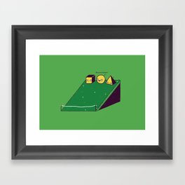 Hill race Framed Art Print