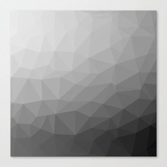 Grey Gradient Geometric Mesh Canvas Print