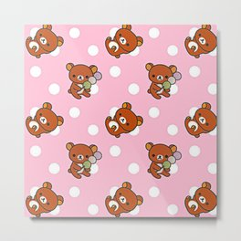 Cute Bear Metal Print