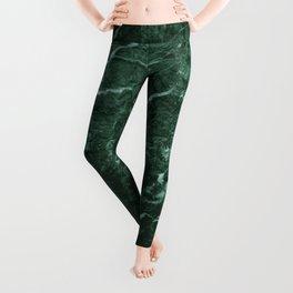 Dark Green Marble texture Leggings
