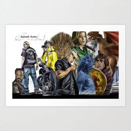 Episodes Art Print