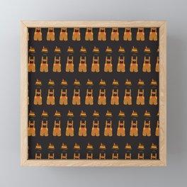 Oktoberfest guy. Lederhosen  Framed Mini Art Print