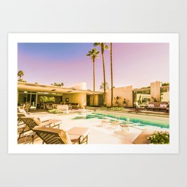 Opulent Luxe 1809 Mid-Century Modern Palm Springs Architecture Art Print
