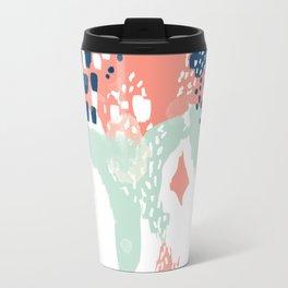 Kayl - abstract painting minimal coral mint navy color palette boho hipster decor nursery Travel Mug