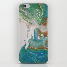 Turquoise Green Fluid Flow Marble Art iPhone Skin