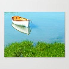 serene boat scene#4 Canvas Print