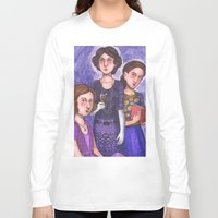 sisters Long Sleeve T-shirts featuring Sisters by Anna Gogoleva