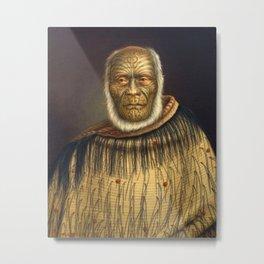 Portrait of Ihaka Whanga by Gottfried Lindauer - Māori Metal Print