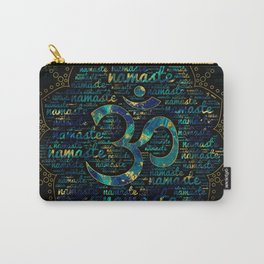 Namaste Word Art in Lotus with OM symbol Carry-All Pouch