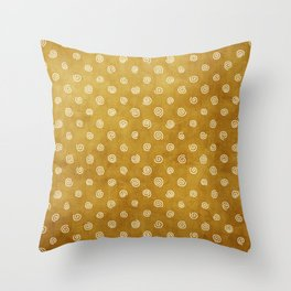 A Chérissent Holiday in Dazzling Gold Throw Pillow