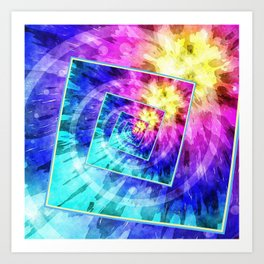 Spinning Tie Dye Abstract Art Print