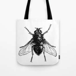 black and white fly Tote Bag