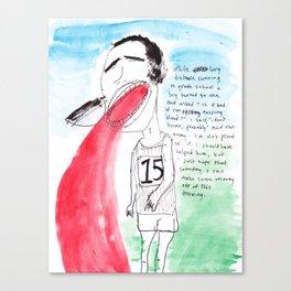 LONG DISTANCE RUNNER Canvas Print