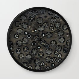 Old Metal Background with Circles Wall Clock