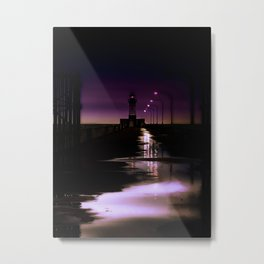 Evening Lighthouse Metal Print