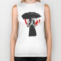 umbrella Biker Tanks featuring Umbrella by Bill Pyle