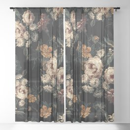 Midnight Garden XIV Sheer Curtain