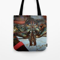 lobster Tote Bags featuring Lobster by DanByTheSea