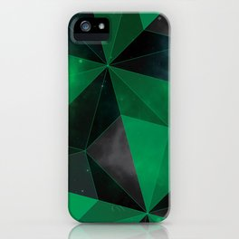 Shattered Green iPhone Case