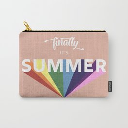 Finally it's Summer- retro typography Carry-All Pouch