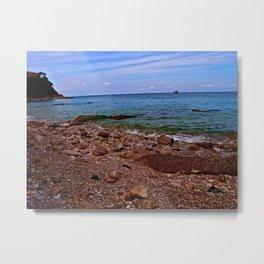 Beach: Amalfi Coast, Italy Metal Print