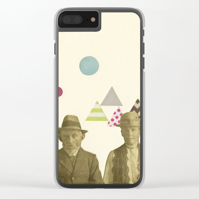 Childhood Sweethearts Clear iPhone Case