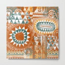 Tribal Bohemian Mosaic Metal Print