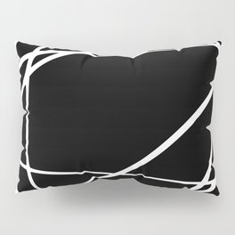 Black and White Circles and Swirls Modern Abstract Pillow Sham