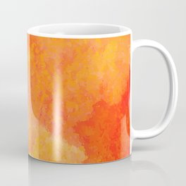 Orange watercolor paint vector background Coffee Mug