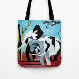 African Abstract         by Kay Lipton Tote Bag