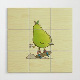 The Pear Skater Wood Wall Art