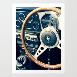 Old Triumph Wheel / Classic Cars Photography Art Print