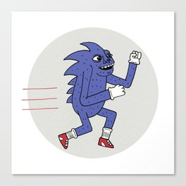 RUNHOG THE SUPERSONIC SPEED PIG Canvas Print