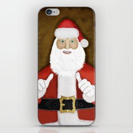 Thumbs (the Santa Claus edition) iPhone Skin