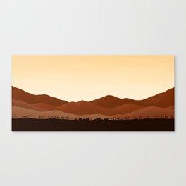 Mountain Village - Autumn Canvas Print