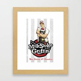 Milkshake Griffin Framed Art Print