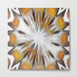 Sunburst Abstract Metal Print