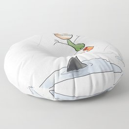 Monday About to Happen Floor Pillow
