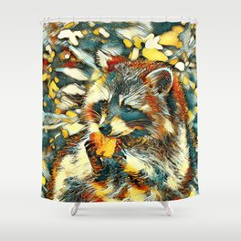 AnimalArt_Raccoon_20170601_by_JAMColorsSpecial Shower Curtain