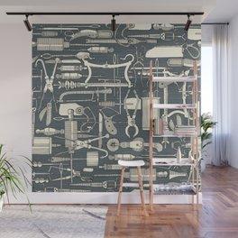fiendish incisions metal Wall Mural