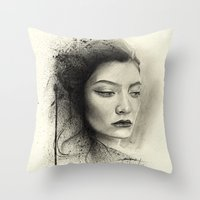 lorde Throw Pillows featuring Lorde by Creadoorm