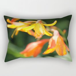 Orange Bells Rectangular Pillow
